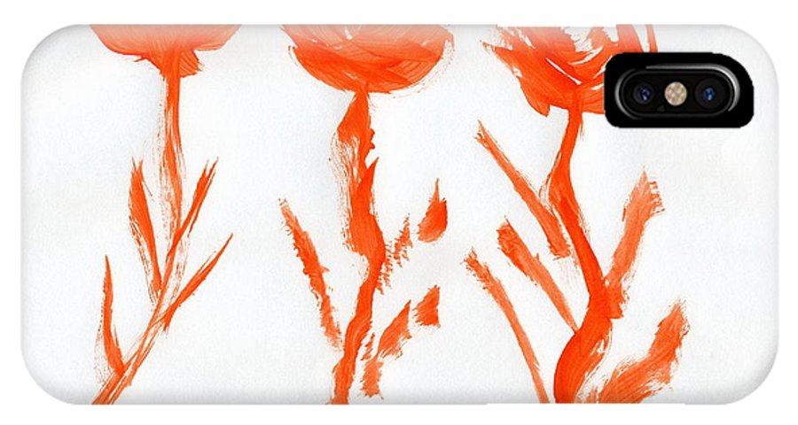 New Arrival IPhone X Case featuring the painting New Arrival by Taylor Webb