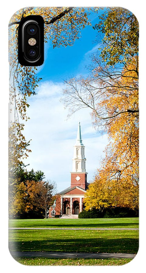 Art IPhone X Case featuring the photograph New England Style by Greg Fortier