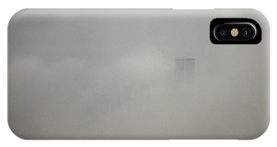 North America IPhone X / XS Case featuring the photograph New York City With World Trade Center by Jason Edwards