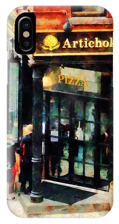Pizza IPhone X Case featuring the photograph New York Pizzeria by Susan Savad