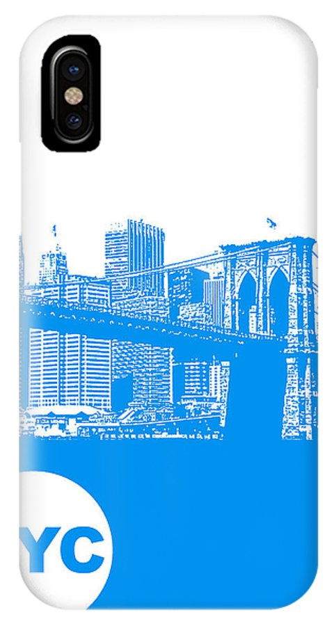 IPhone X Case featuring the photograph New York Poster by Naxart Studio
