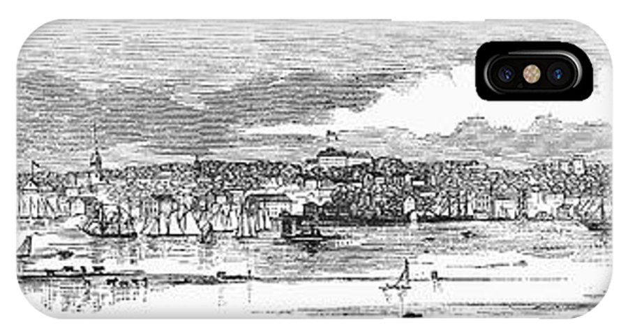 1853 IPhone X Case featuring the photograph Newport, 1853 by Granger