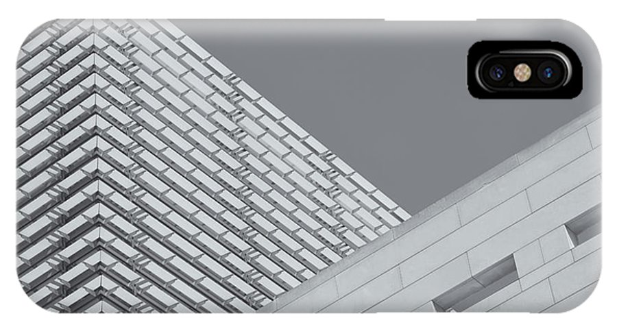 Clarence Holmes IPhone X / XS Case featuring the photograph Newseum Contrasting Facades II by Clarence Holmes