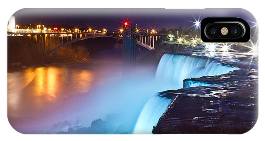 IPhone X Case featuring the photograph Niagara Falls At Night 2 by Chuck Alaimo