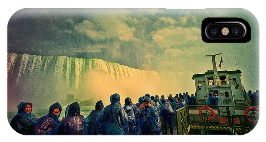 Niagara IPhone X Case featuring the photograph Niagara Falls From The Deck Maid Of The Mist by Lawrence Christopher