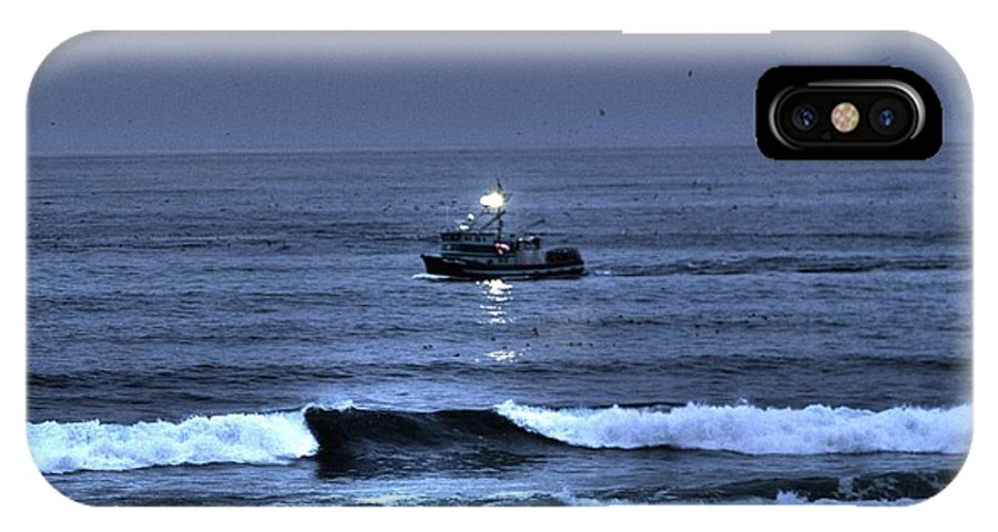 Water IPhone X Case featuring the photograph Night Fishing by One Rude Dawg Orcutt