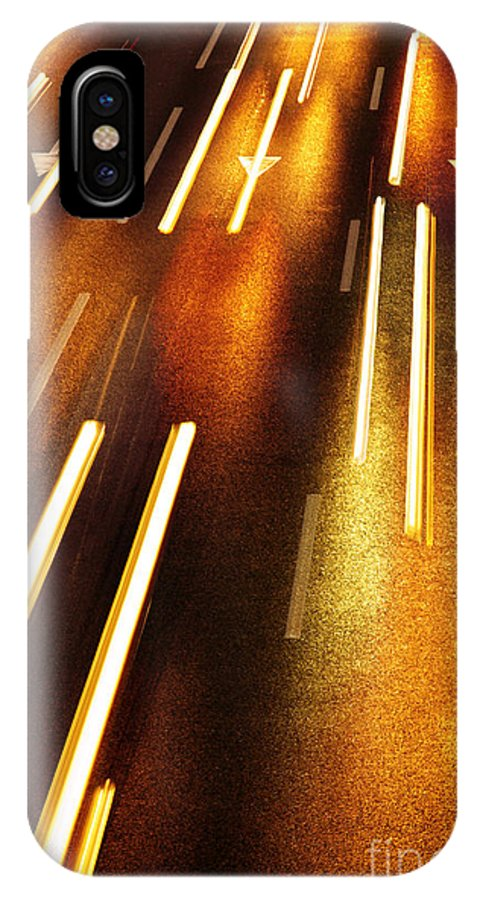 Asphalt IPhone X Case featuring the photograph Night Traffic by Carlos Caetano