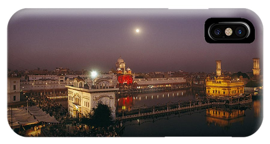 Asia IPhone X / XS Case featuring the photograph Night View Of Amritsar by James P. Blair