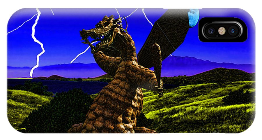 Dragon IPhone X Case featuring the digital art Nightmare After Midnight by Tommy Anderson