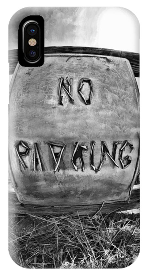 Art Photography IPhone X Case featuring the photograph No Parking by Blake Richards