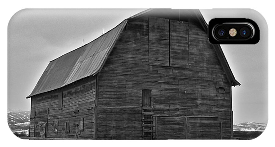 Barn IPhone X Case featuring the photograph Noble Barn by Eric Tressler