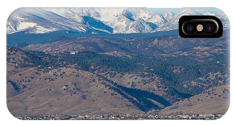Boulder IPhone X Case featuring the photograph North Boulder Colorado Front Range View by James BO Insogna