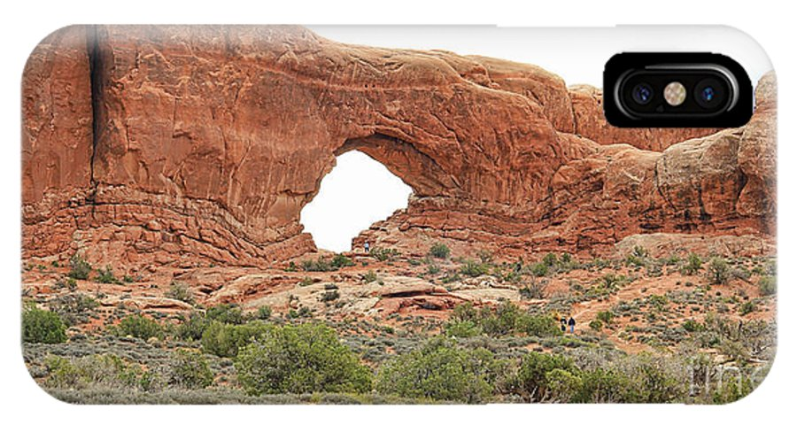 North Window Arch IPhone X Case featuring the photograph North Window Arch by Jack Schultz