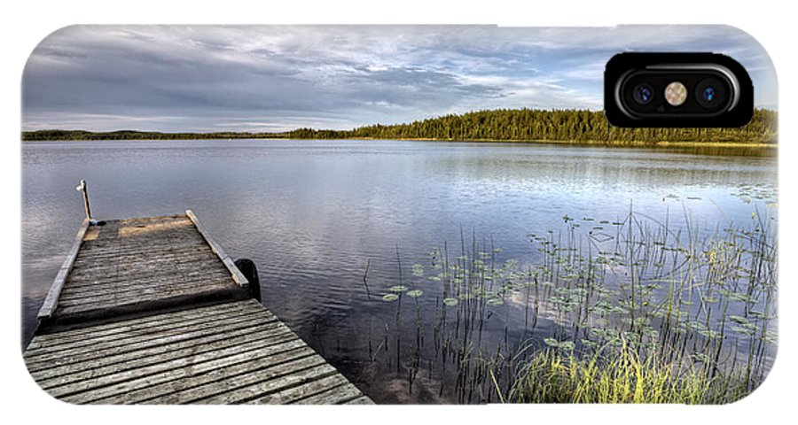 Lake IPhone X Case featuring the photograph Northern Saskatchewan Lake by Mark Duffy