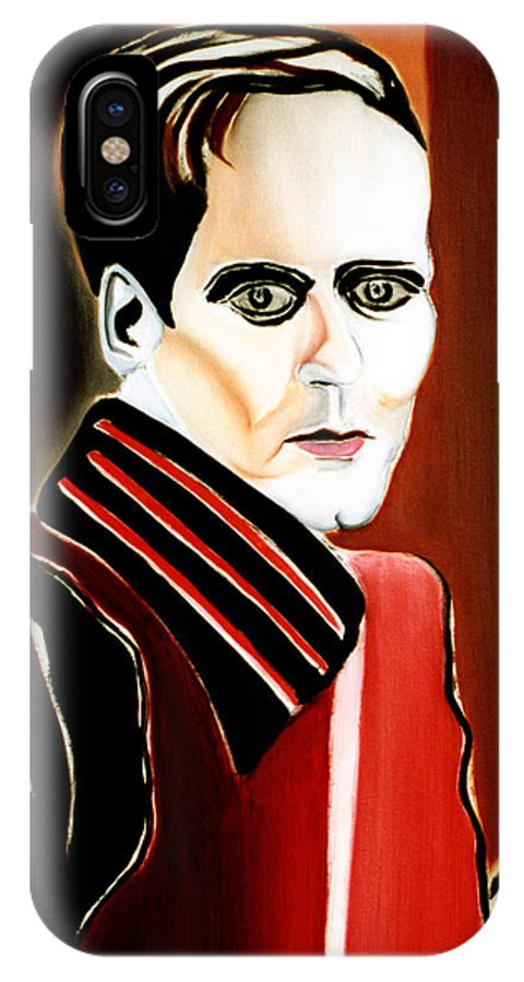 Nostradamus IPhone X Case featuring the painting Nostradamus Of The Future by Fabrice Plas