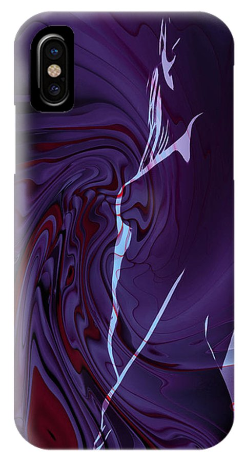 Girl Female Woman Abstract Color Colorful Expressionism Impressionism Fractal Digital IPhone X / XS Case featuring the painting Not From This World by Steve K