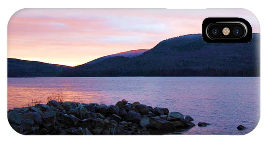 Sunrise IPhone X Case featuring the photograph November Sunrise by Marie Fortin