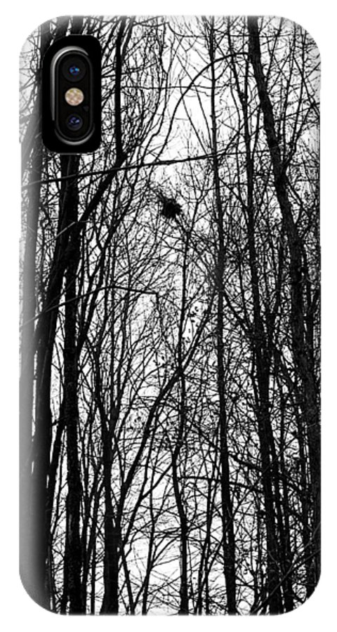 November IPhone X Case featuring the photograph November Wood by Valentino Visentini
