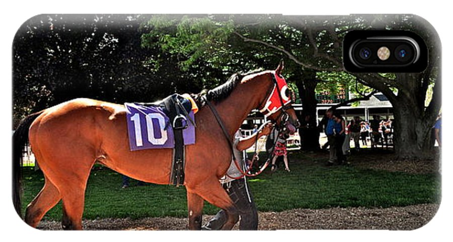 Monmouth Park IPhone X Case featuring the photograph Number 10 by Catherine Conroy