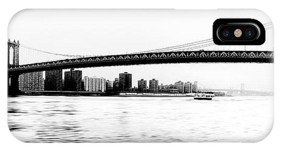 Ny IPhone X Case featuring the photograph Nyc - Manhattan Bridge by Hannes Cmarits
