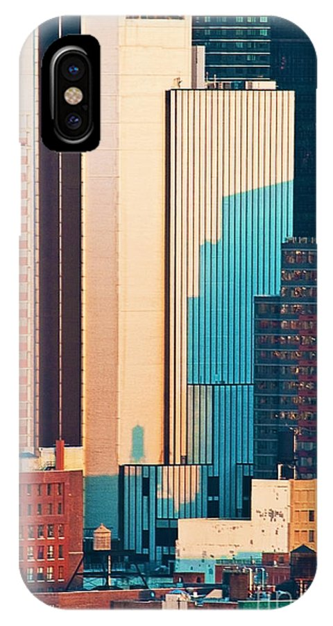 New York IPhone X Case featuring the photograph Nyc Colors And Lines II by Regina Geoghan