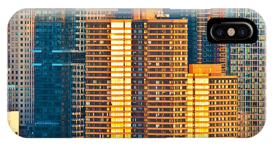 New York IPhone X Case featuring the photograph Nyc Colors And Lines IIi by Regina Geoghan