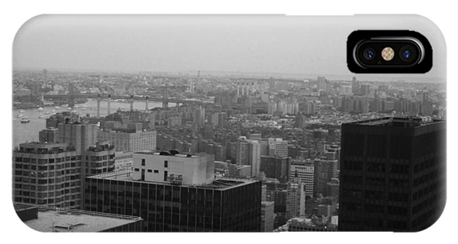 New York IPhone X Case featuring the photograph Nyc From The Top 2 by Naxart Studio