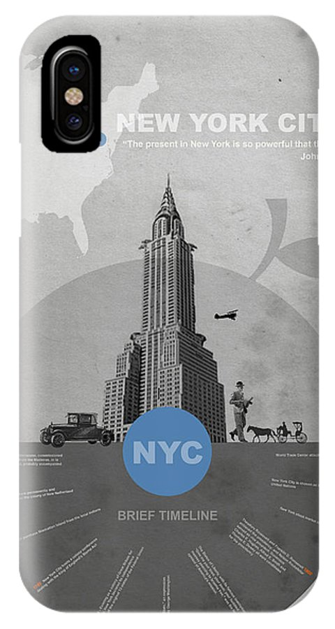 New York IPhone X Case featuring the photograph Nyc Poster by Naxart Studio