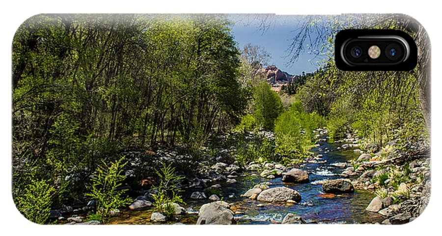 Stream IPhone X Case featuring the photograph Oak Creek by Robert Bales