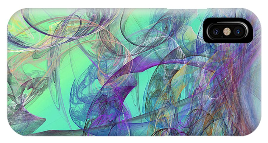 Fractal IPhone X Case featuring the digital art Ocean Symphony II by Betsy Knapp