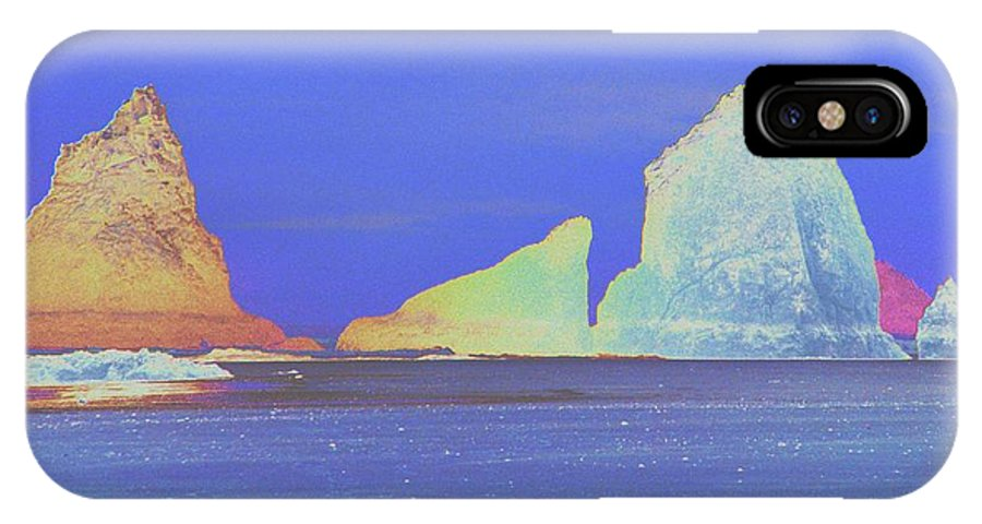 Water IPhone X Case featuring the photograph Oceanside Rocks by One Rude Dawg Orcutt