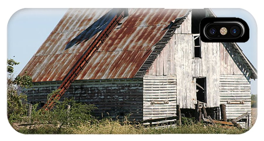 Barn IPhone X Case featuring the photograph Ol Barn 32 by Roger Look
