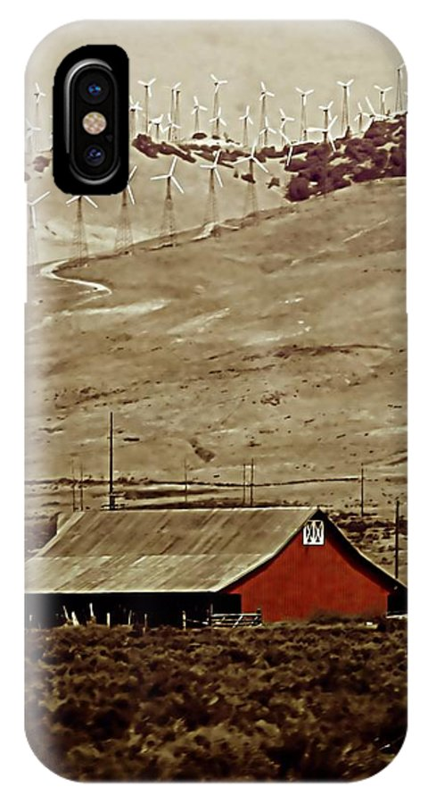 Barn IPhone X Case featuring the photograph Old And New by Ellen Heaverlo