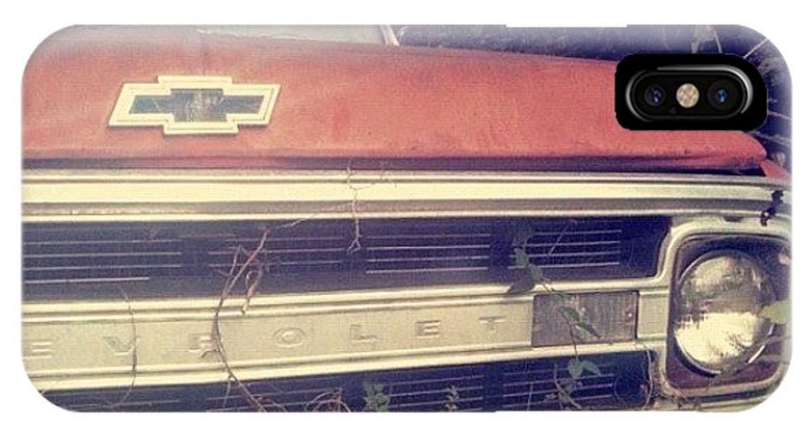 Antique IPhone X Case featuring the photograph #old #antique #truck #chevrolet #car by Seth Stringer
