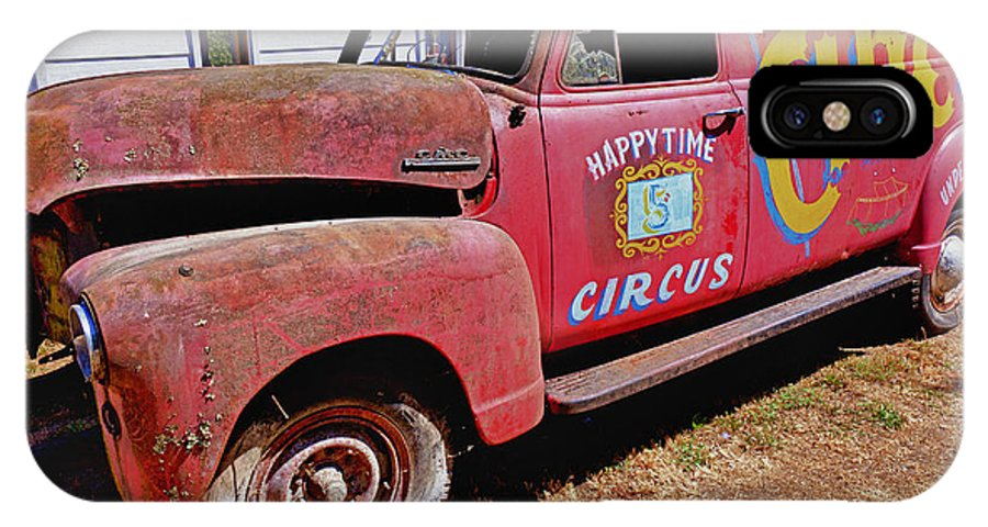 Red IPhone X Case featuring the photograph Old Circus Truck by Garry Gay