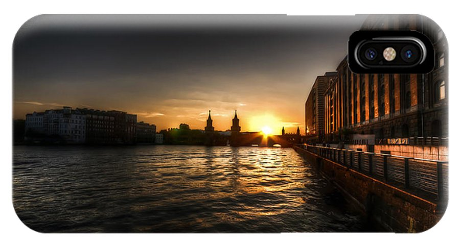 Architecture IPhone X Case featuring the photograph Old Docks Sunset. by Nathan Wright