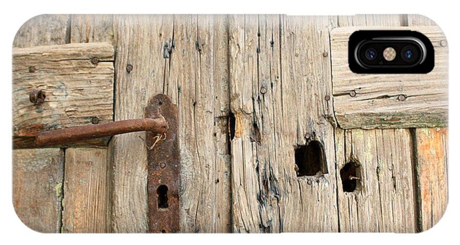 Sebastia IPhone X Case featuring the photograph Old Door In Sebastia by Munir Alawi