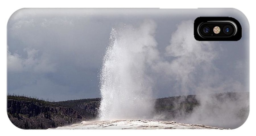 Old Faithful IPhone X Case featuring the photograph Old Faithful by Living Color Photography Lorraine Lynch