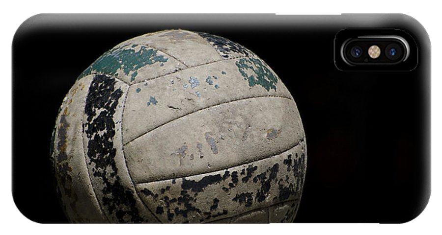 Football IPhone X Case featuring the photograph Old Football by Mats Silvan