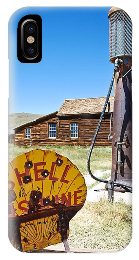 Old Gas Pumps IPhone X Case featuring the photograph Old Gas Pumps by Shane Kelly