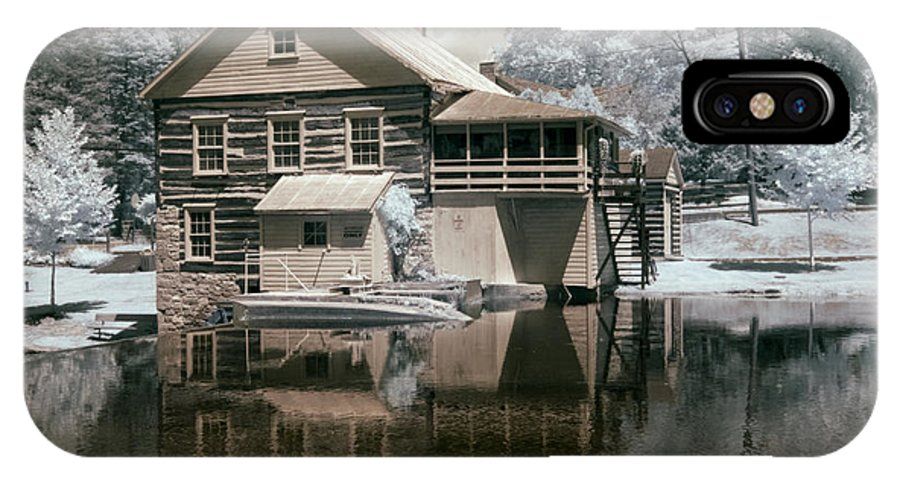 Infrared IPhone X Case featuring the photograph Old Grist Mill In Infrared by Paul W Faust - Impressions of Light
