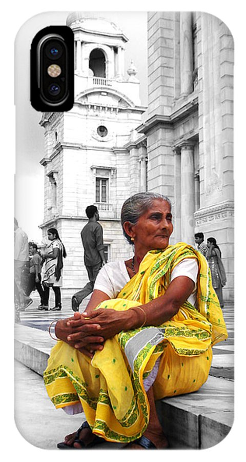 Old IPhone X Case featuring the photograph Old Indian Woman by Sumit Mehndiratta