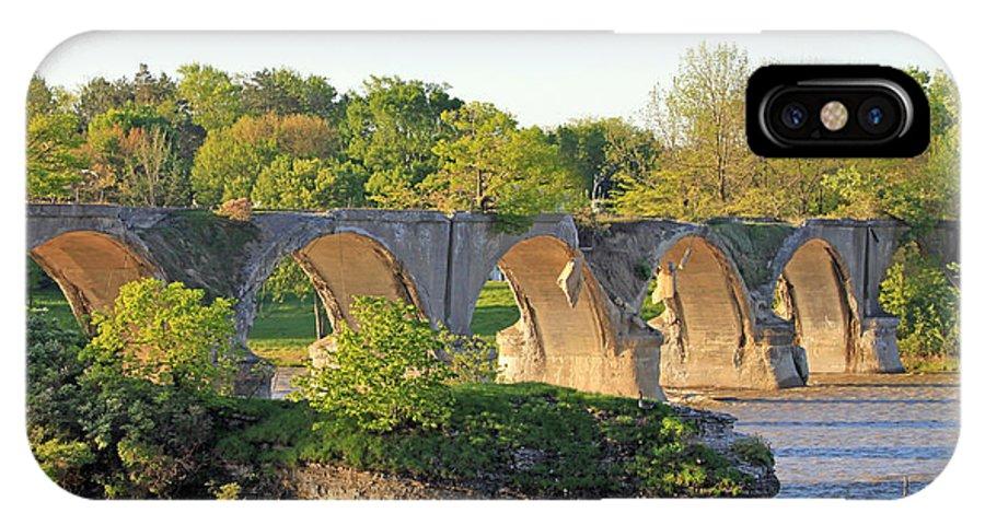 Interurban Bridge IPhone X Case featuring the photograph Old Interurban Bridge by Jack Schultz