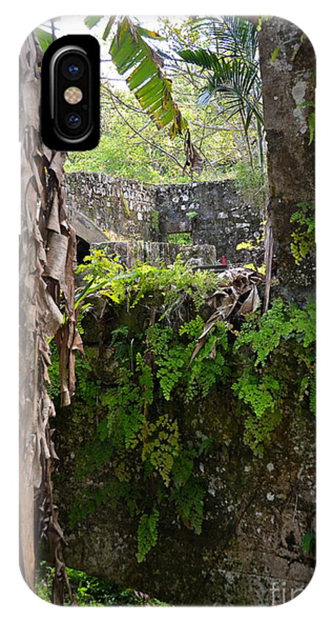 Jamaica IPhone X Case featuring the photograph Old Jamaican Sugar Mill by Carol Bradley