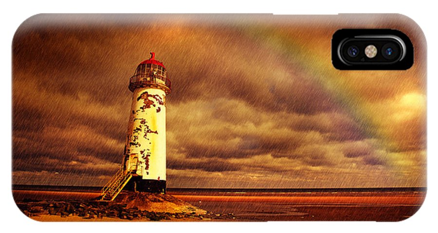 Talacre IPhone X Case featuring the photograph Old Lighthouse by Mal Bray
