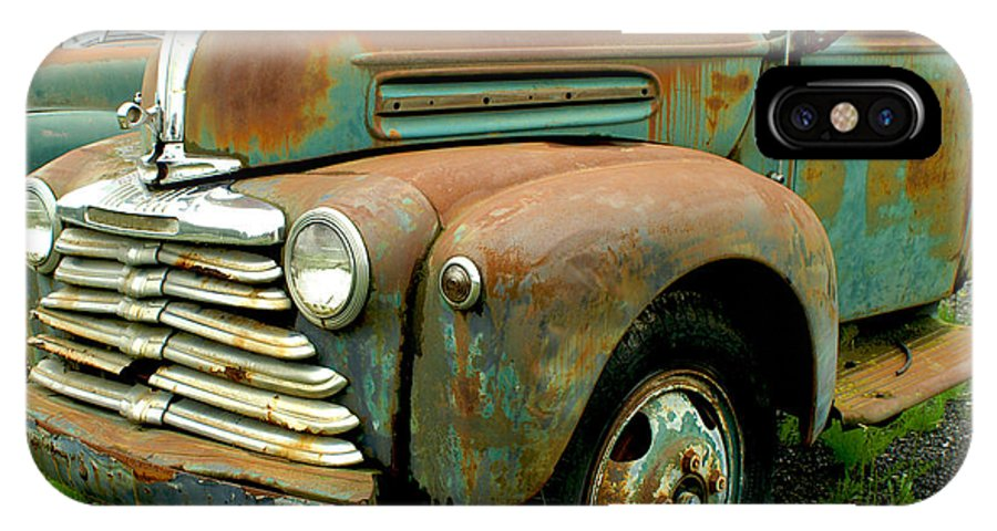 Cars IPhone X Case featuring the photograph Old Mercury Truck by Randy Harris