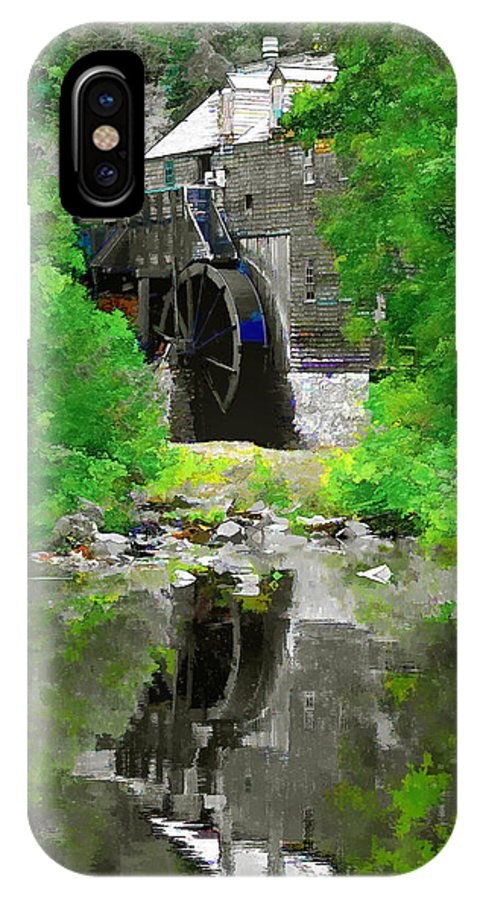 A Modified Photograph Of An Authentic Mill From The 1800s Not In Kings Landing IPhone X Case featuring the photograph Old Mill by Mark Sellers
