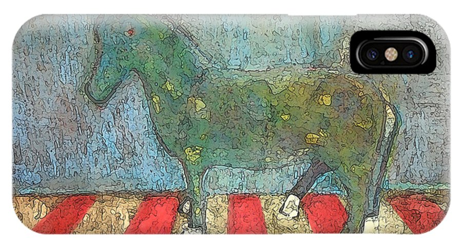 Horse IPhone X Case featuring the painting Old Paint by James Raynor
