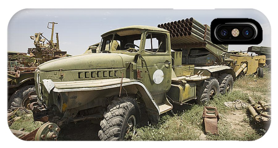 122mm IPhone X Case featuring the photograph Old Russian Bm-21 Launch Vehicle by Terry Moore