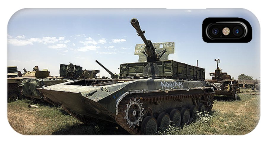 Army IPhone X Case featuring the photograph Old Russian Bmp-1 Infantry Fighting by Terry Moore